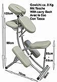 Chaise de massage - Aluminium - Sac inclus - Blanc