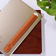 FNT Elastic Stylus Case Cover Sleeve Pouch Bag Holder Adhensive Sticker Accessory for Apple iPad Pro Pencil Pen Brown