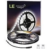 LE Flexibel 12V DC LED Streifen, 300lm / 4,8W pro Meter, kaltweiß, 6000 Kelvin, 300 Stück 3528 LEDs, nicht wasserdicht, 5M in jeder Packung, LED Lichtleiste Lichtband, LED Band