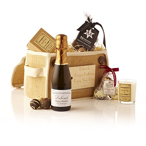 Personalised Mini Prosecco & Treats Pamper Pack - Gift ideas for Christmas presents, Birthday, Anniversary & Congratulations presents