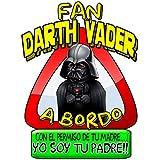 Pegatina Star Wars fan Darth Vader a bordo