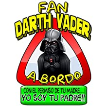 Pegatina Star Wars fan Darth Vader a bordo