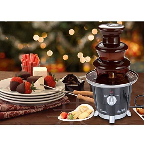 MU DREI-Schicht-DIY-Schokoladen-Brunnen-Maschine - Edelstahl-Wasserfall-heißer Topf-Schmelzmaschine - automatischer Schmelzturm - Partei-Tätigkeiten, Haushalt, Buffet -