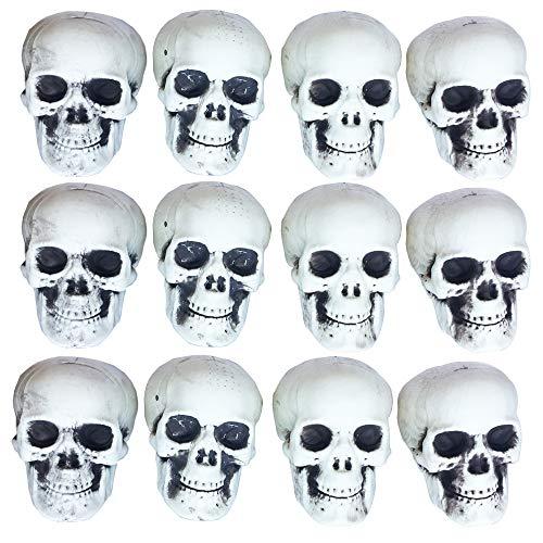12 stück viel Mini Größe Schädel 100% Kunststoff Halloween Requisiten Grab Yards Dekorationen