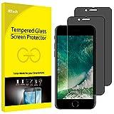 JETech Pacco da 2 Pellicole Protettive in Vetro Temperato Privacy per Apple iPhone 7/iPhone 8 4,7 - Nero