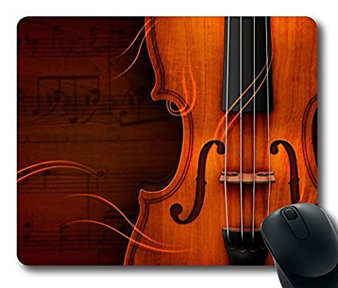 Classical Music Violin Limited Design Oblong Mouse Pad by Cases & Mousepads