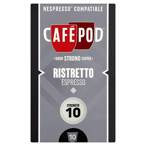 Find CafePod Ristretto Pack Of 10 Nespresso Compatible Coffee Capsules by CafePod