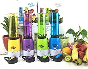 ShoppoWorld Mini Juicer Shake n Take Fruit Mixer and Smoothie Maker Multi Function Extractor Blender Household Travel Cup (Multi Color - As Per Availability)