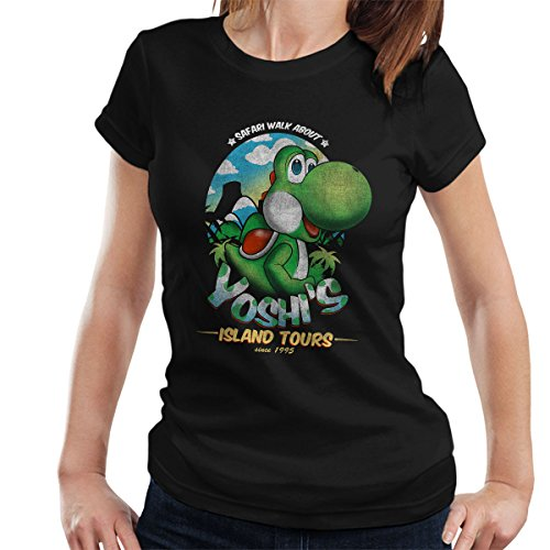 Super Mario Yoshis Island Tours Women's T-Shirt Black