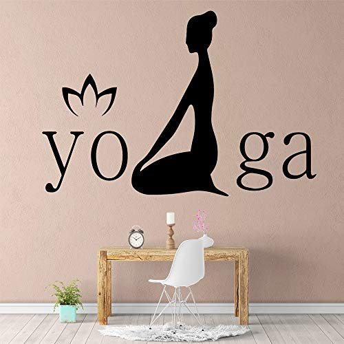 yaonuli divertente yoga adesivo murale impermeabile decorazione della casa decorazione della parete soggiorno camera da letto decorazione camera da letto 30x44cm