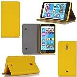 Etui luxe Nokia Lumia 1320 Ultra Slim jaune Cuir Style avec stand - Housse coque de protection Nokia Lumia 1320 jaune smartphone phablette - Prix découverte accessoires pochette XEPTIO : Exceptional case !