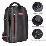 Beschoi DSLR Kamera-Rucksack, Wasserdichte Kameratasche für Sony Canon Nikon Olympus SLR/DSLR Kamera, Objektiv und Zubehör, groß (schwarz). Test