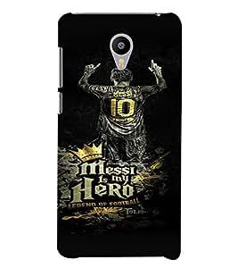 PrintVisa Messi Hero Football 3D Hard Polycarbonate Designer Back Case Cover for YU Yunicorn