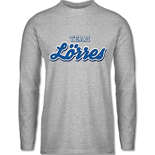 Typisch Männer - Team Lörres - Longsleeve / langärmeliges T-Shirt für Herren Grau Meliert