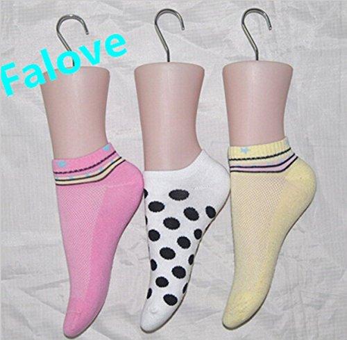 chengyida 3er Pack Kunststoff, weiblich Fuß Mannequin Socke Schuhe Display Dummy Modell Torso stehen, mit Haken - Weiblicher Torso-modell