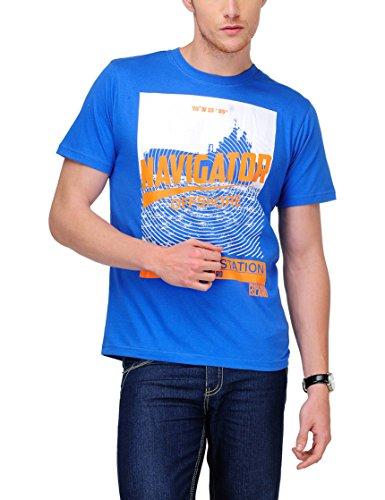 Yepme Men's Blue Graphic T-shirt -YPMTEES0151_S  available at amazon for Rs.149