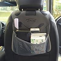 Backseat Car Organizer universale Cute Cartoon Panda Tidy tablet iPad supporto del cellulare di viaggio immagazzinaggio del sacchetto dell'organizzatore Sedile posteriore Protector Accessori Auto Coprisedili (Grigio)