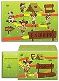 12 Einladungskarten zum Kindergeburtstag Abenteuer-Party incl. 12 Umschläge / Schatzsuche / Outdoor / Einladungen zum Geburtstag für Mädchen und Jungen (12 Karten + 12 Umschläge)