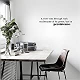 Stickers Muraux Vinyl Wall Art Inspirational Quotes And Saying Home Decor Decal Sticker A River Cuts Through Rock Not Because Of Its Power, But Its Persistence.