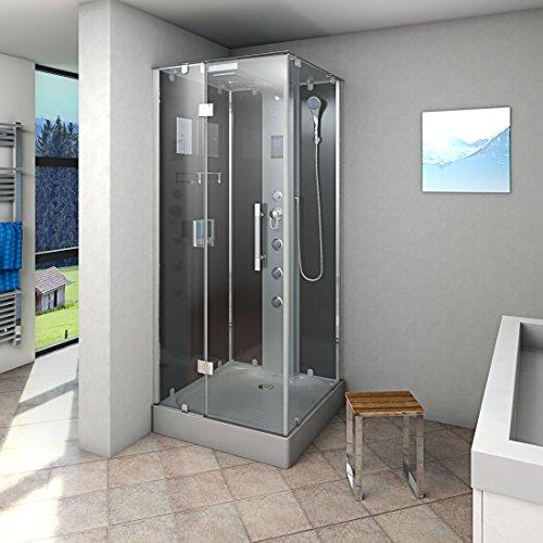 AcquaVapore DTP6038-3302L Dusche Dampfdusche Duschtempel Duschkabine 90x90, EasyClean Versiegelung der Scheiben:2K Scheiben Versiegelung +99.-EUR