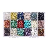 NBEADS 1 caja de 18 cuentas de piedras preciosas de 4~8 mm con forma de nugget natural irregular sueltas con piedra energética para hacer joyería