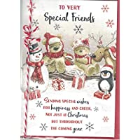 Prelude Friends Christmas Card Cute Bears & Umbrella PX-39128