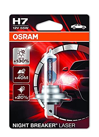 Osram 64210NBL-01B Night Breaker Laser H7 Halogen Headlight Lamp, 12V, Single Blister, 1 Piece