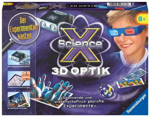 Ravensburger 18763 - ScienceX 3D Optik - Experimente