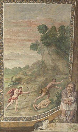 Das Museum Outlet-Domenichino und Assistenten-Apollo Killing The Cyclops-Poster Print Online kaufen (101,6x 127cm) -