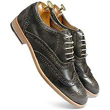one8 Select by Virat Kohli Men's Green Leather Brogue Shoes