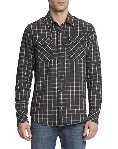 nudie-jeans-uomo-chemise-en-check-poches-gunnar-kaki-a-carreaux-blanc-pour-homme-