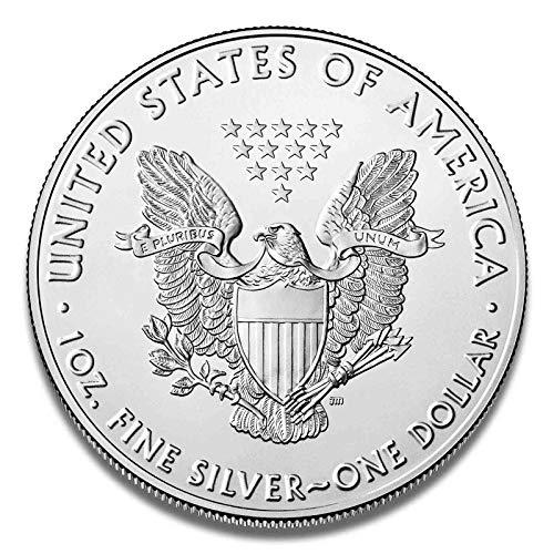 Silbermünze American Eagle *einzeln in Münzkapsel verpackt* 1 Unze Silber (Jahrgang 2019)