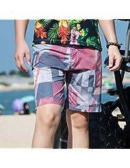 PZLL Hawaii cinco verano hombres pantalones, pantalones cortos de secado rápido de moda de surf playa, pantalones de playa impresión , m