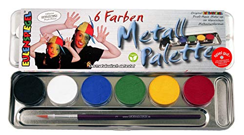 Eulenspiegel Schminkset, 6 Farben (Make Up Halloween)