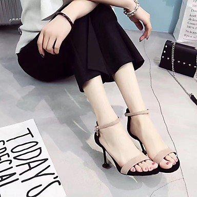 RTRY Donna Sandali Suole Di Luce Pu Estate Abbigliamento Casual Fibbia Stiletto Heel Mandorla Arrossendo Rosa Verde 2A-2 3/4In US6 / EU36 / UK4 / CN36