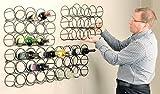 Cellamagic Circular Wall Mounted (12 Bottle) Wine Rack - Set of 4 Wine Racks - 48 Bottles in Total