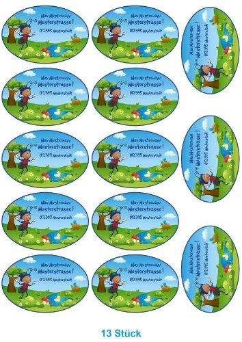 Etiquetas de nombre Escuela tiketten para niños Set con nombre personalizado diseño: hormiga Paul