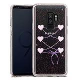DeinDesign Samsung Galaxy S9 Plus Bumper Hülle rose goldtransparent Bumper Case Schutzhülle Glitzer Look Dirndl ohne Hintergrund Oktoberfest