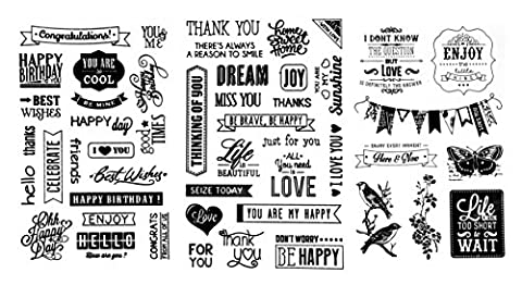 be fancy! Silikonstempel Set - Clear Stamps - Stempel -