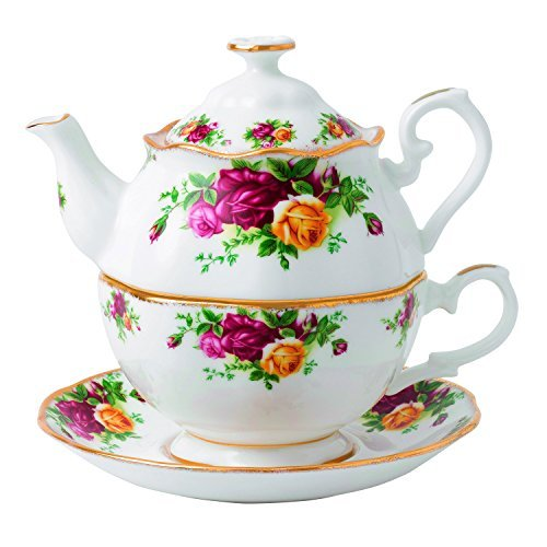 Royal Albert Old Country Roses for One Tea Pot, 16.5 oz, Multicolor by Royal Albert Royal Albert Old Country Roses