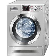 Bosch WVH2847XEP Independiente Carga frontal A Acero inoxidable lavadora - Lavadora-secadora (Carga frontal, Independiente, Acero inoxidable, Izquierda, Botones, Giratorio, LED)