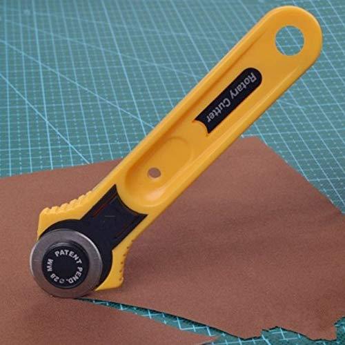 IIfreesia Gelb Erwachsene Roller Cutter Klinge Kreis Tuch Schneiden Rund Cutter 28mm Edelstahl Quilten Werkzeug Zubehör (gelb)