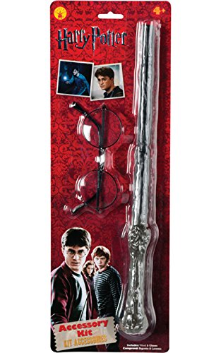 Rubie's IT5374 - Harry Potter Kit accessori, Bacchetta magica e occhiali, Taglia unica