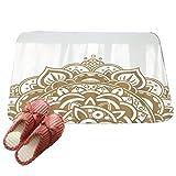 LvRaoo Floral Fußabtreter Mandala Schmutzfangmatte Fußmatte Home Décor Rutschfest Waschbar Fußabstreifer (# 3, 60*40cm)