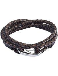 Rafaela Donata Unisex-Armband Edelstahl Leder 60907017