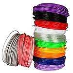 SOYAN 3D Pen Filament Refills, 1.75mm ABS, Total 240 Feet of 12 Colors, Suitable for 3D Pen, 3D Printer and More