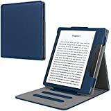 """Fintie Stand Case for Kindle Oasis (9th Generation, 2017 Release ONLY) - Multi Angle Hands-Free Viewing Flip Cover with Auto Sleep/Wake for Amazon All-New 7"""" Kindle Oasis E-Reader, Navy"""