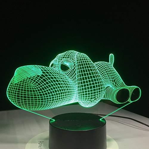 weiaikeke 2018 Dog Light 3D luz Nocturna Juguetes para...