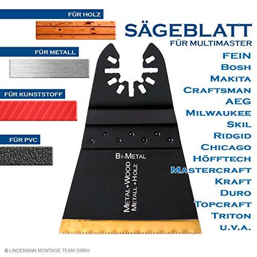 Sägeblatt für Metall, Laminat, Parkett, Holz, Kunststoff. Multimaster Sägeblatt 68mm. Sägeblatt Multifunktionswerkzeug passt zu Fein, Bosch u.a.