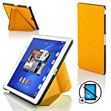 Forefront Cases Sony Xperia Z3 Tablette Compact 8 Pouces 8' SGP611 Origami Étui Housse Coque Case Cover - Ultra Mince Léger Protection complète - Smart Auto Veille Réveil - Jaune + Stylet & Protecteur